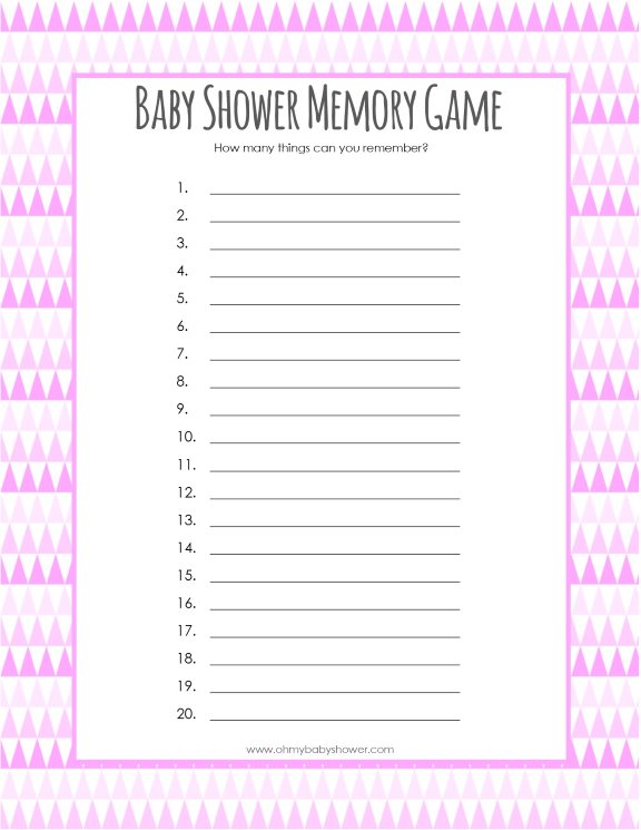 picture regarding 75 Printable Baby Shower Games With Answers identified as Absolutely free Kid Shower Sport Printables - Oh My Kid Shower
