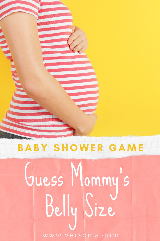 Girl boy Tape measure Rainbow Sensation How big is mummys tummy? Baby Shower 20 Player Game Blue