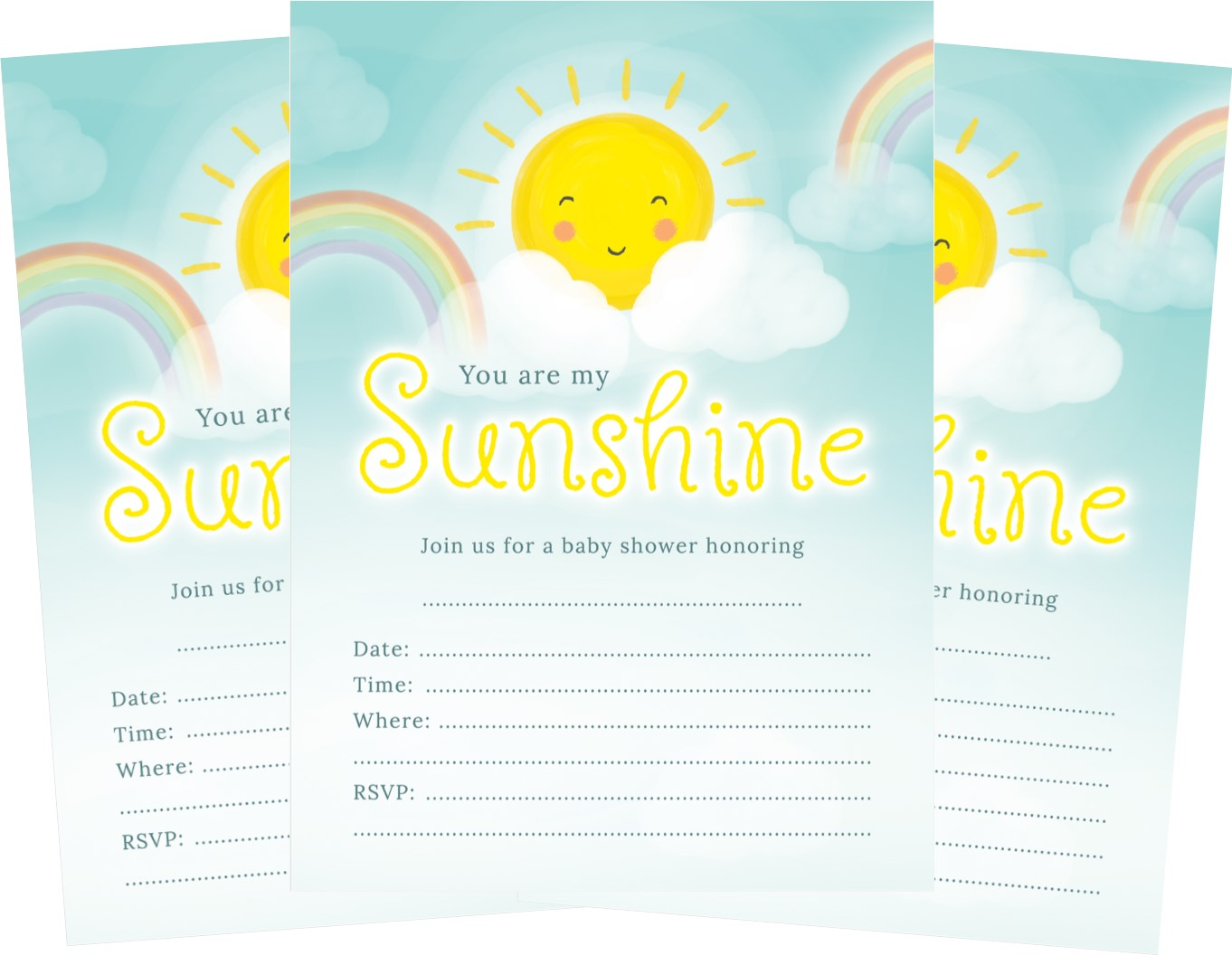 You are my sunshine baby shower invite