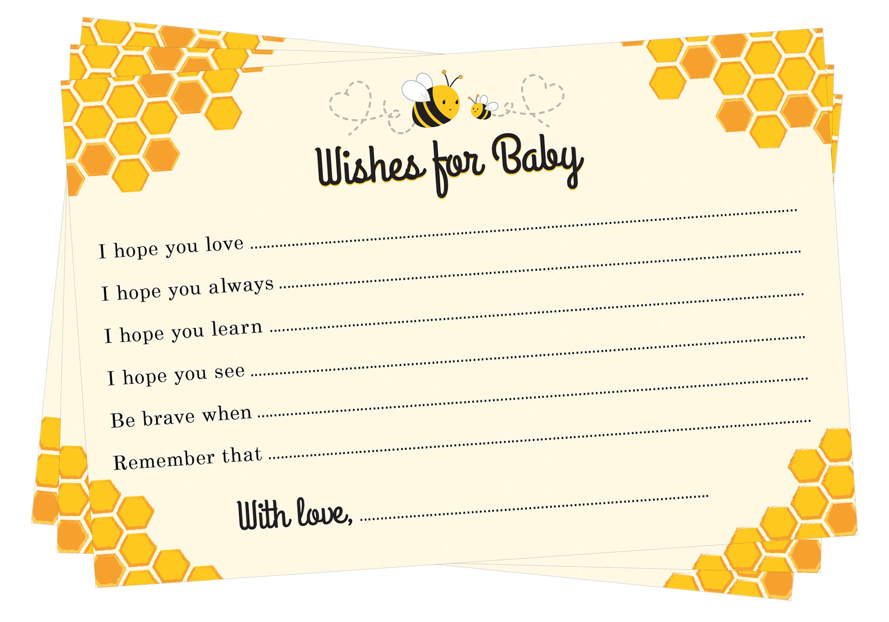 Bee Wishes for Baby Cards